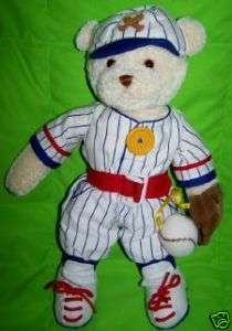 Baby Gund Dress Me Baseball Teddy Bear 58203 doll