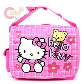 Messenger Bag Diaoer Bag  Pink Flowers Teddy Bear 688955816114