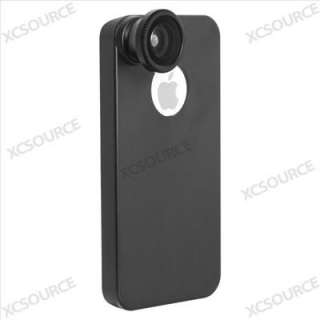 180° Fisheye Fish Eye Detachable Lens + Back Cover Case For iPhone 4S