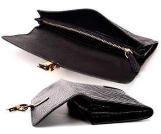 Real Leather Clutchs Wallet Long Purse Money Clip  EDR06
