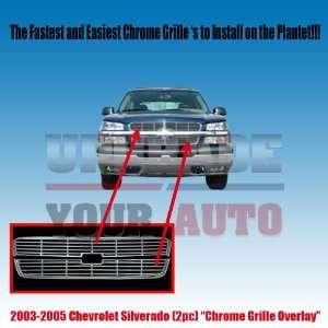 2003 2005 Chevy Silverado Chrome Grille Overlay