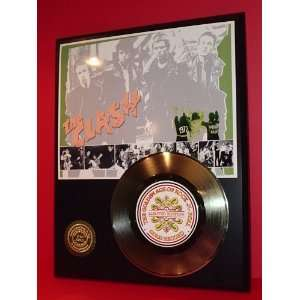CLASH LIMITED EDITION GOLD RECORD DISPLAY