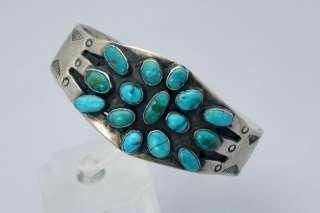 Old Vintage Native American Navajo NATURAL Turquoise INGOT Silver
