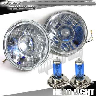 H4 HID BULBS CONVERSION ROUND PROJECTOR HEADLIGHT KIT