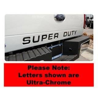 Ford Super Duty Tailgate Lettering Kit   Ultra Chrome
