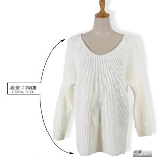 New Korean Women Long Sleeve Knit Sweater Top Loose 2 Colors 1154