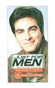 Just for men Shampoo in hair color   BLACK Dark Brown