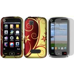 Elegant Swirl Design Hard Case Cover+LCD Screen Protector