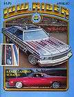 LOWRIDER MAGAZINE 1980 APR KRAZY CAMINO ELVIS LOWS TEEN ANGEL ARTE TX