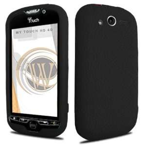 HTC myTouch 4G Gel Skin Case   Black Cell Phones