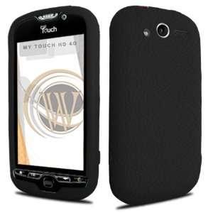HTC myTouch 4G Gel Skin Case   Black Cell Phones