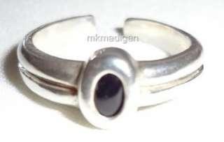 Silpada .925 Sterling Silver Black Onyx Toe Ring O0962 Retired Free
