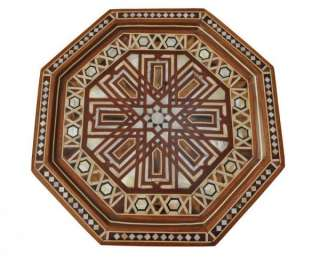 Mother of Pearl Mosaic Inlaid Wood Coffee Side Table #2