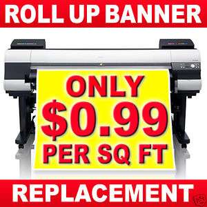 Vinyl Printing Replacement Roll Up Banner Stand Banner