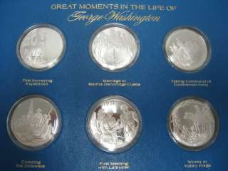 1975 Life of George Washington Sterling Silver Coin Set