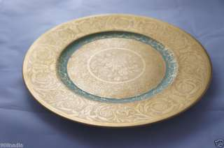 LIMOGES ROYAL CHINA DINNER PLATE/CHARGER GOLD SET OF 5
