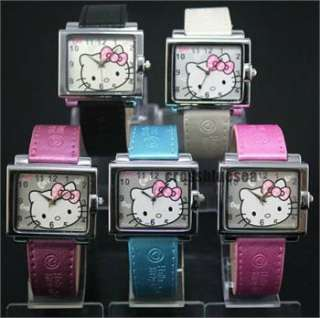Leather New Hellokitty Ladies Fashion Wrist Watch Quartz Classical