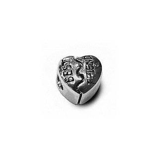 Best Friend Bead Charm   .925 Sterling Silver   fits Pandora, Chamilia