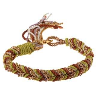Helene Gold Overlay Earth Braided Friendship Bracelet