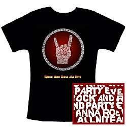 KISS Rock & Roll All Nite Lyrics Womens T shirt