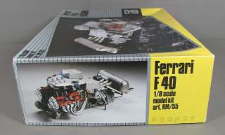 POCHER Ferrari F40 Engine 1/8 Scale Model Kit Art. KM/55 Unpunched