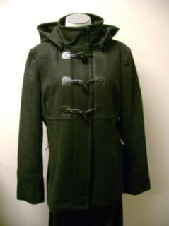 MICHAEL Michael Kors Black Wool Toggle Coat with Removable Hood 10