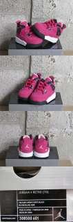 Nike Air Jordan 4 Retro TD Toddler Pink White Black DS Sz 3 new 308500
