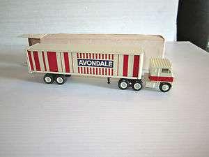 AVONDALE Textiles Co. Semi Tractor Trailer White 7000 COE Truck