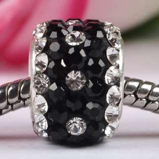 Swarovski Crystal 925 Silver Square Charm Beads Fit Bracelet