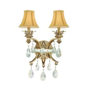 Chloe Collection Riviera Gold Candelabra 16 Wide Sconce