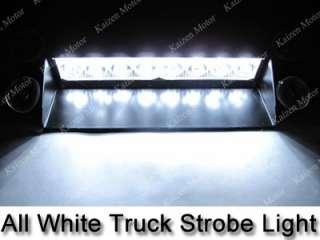 White/Amber 8 LED Police Emergency Car Boat Truck Dash Strobe Light