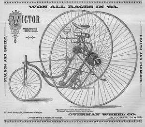 ANTIQUE VICTOR TRICYCLE, OVERMAN WHEEL CO. CHICOPEE