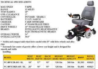 Dalton Electric Powered Wheel Chair / Primechair Mid Wheel Drive