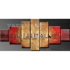 MODERN ABSTRACT CANVAS ART OIL PAINTING:  Home & Kitchen