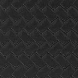 Boston Traveler Mens Black Basketweave Italian Leather Wallet