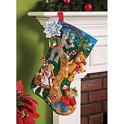 Bucilla Christmas in Oz Felt Stocking Kit