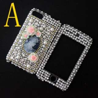 brand new bling rhinestone crystal diamond back front case skin cover