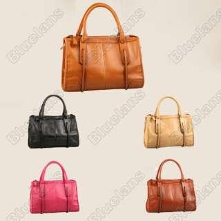 Vintage Retro Women Ladies Genuine Cow Leather Shoulder Bag Handbag