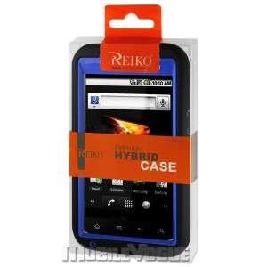 Hybrid Case Skin Cover for ZTE Warp Boost Mobile Black&Navy