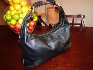 Gucci Black Leather Medium Horsebit detailed Chain Bag 115867