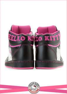 Sanrio Hello Kitty Ladys High Profile Style Casual Shoes Black Peach