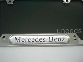 Mercedes Benz Logo Metal Chrome Stainless steel License Plate Frame