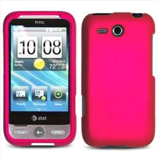 Pink Rubberized Hard Case Cover for HTC Freestyle F8181 AT&T Accessory