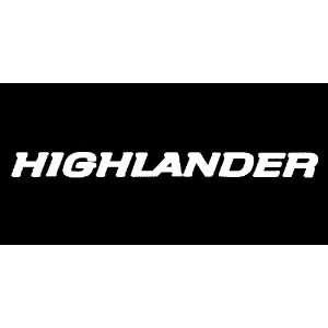 Toyota Highlander Windshield Vinyl Banner Decal 36 x 3