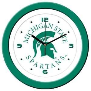 Michigan State University Spartans Wall Clock Sports