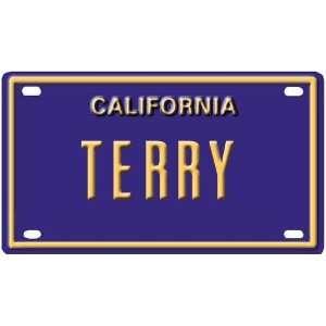 Terry Mini Personalized California License Plate