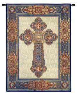 GOTHIC CROSS MEDIEVAL ART DECOR TAPESTRY WALL HANGING