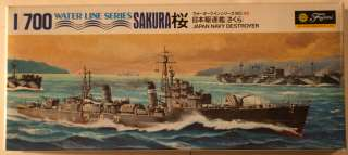 Japan Sakura (Cherry Blossom) WWII 1/700 Ship Model Kit
