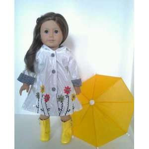 Yellow Boots Yellow Umbrella Set for American Girl Dolls Toys & Games