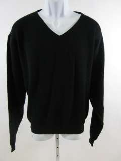 BACHRACH Mens Ribbed Long Sleeve V Neck Sweater Sz L